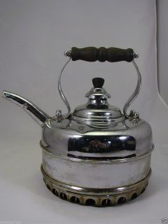 Vintage SIMPLEX Chrome Over Copper Tea Kettle for GAS STOVES