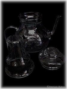 Czech Heat Resistant Pyrex Glass Teapot Tea Pot Kettle