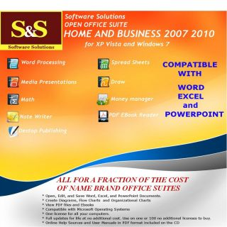Word Excel Powerpoint Compatible Open Office Home Business 2007 2010