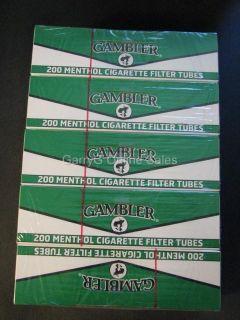 Gambler Menthol Cigarette Tubes King Size 1000 Tubes RYO filter tip