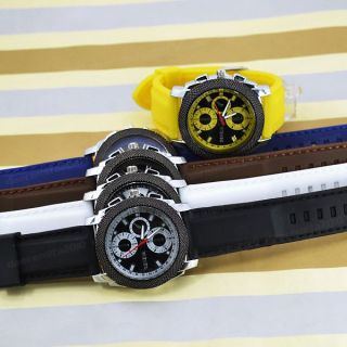 Colors Geneva Brand Silicone Rubber Wristband Quartz Wrist Watch Men