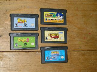 Nintendo DS lite Gameboy Advance games Sonic Sonic 3 Sonic Hedgehog