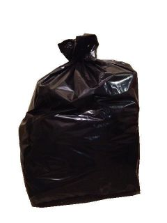 Duty Large Garbage Trash Bags Black 22x16x60 55 60 Gallon 2 Mil