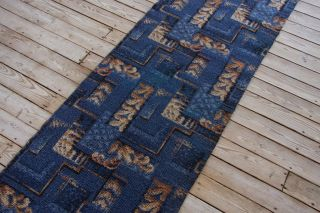 ANTIQUE ART DECO GEOMETRIC PTRN WOOL AXMINSTER RUG RUNNER 1924 1929