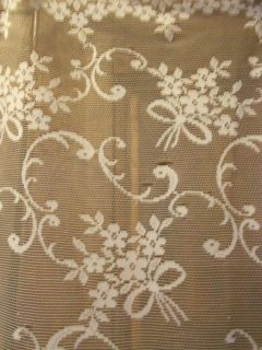 country chic Vintage French Motif curtain front door panel drape net