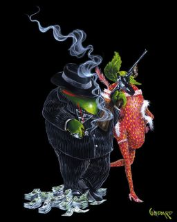 Gangster Love by Michael Godard LIMITED EDITION Giclee on Canvas