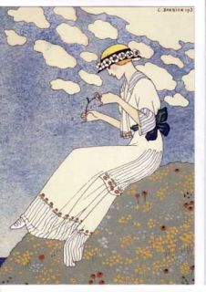 George Barbier Art Deco Greeting Cards Fashion Gallery