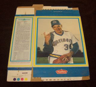 1983 GAYLORD PERRY FULL NALLEY CEREAL BOX SEATTLE MARINERS NICE