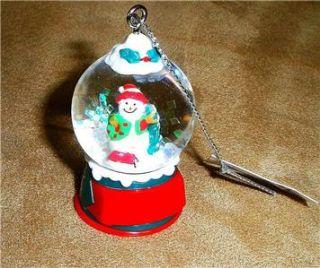 New 2 Gantz Snowman Snow Globe Christmas Tree Ornaments Decorations