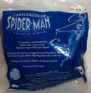 burger king toy the spectacular spiderman marvel