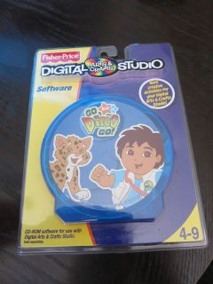 Digital Arts Crafts Studio Go Diego Go Software CD Game Nick Jr