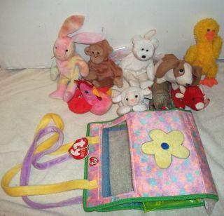 Ty Gear Beanie Kids Accessory Carrying Case Bag 9 Babies Animal Monkey