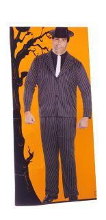 Mens Adult Gangster Pimp Halloween Costume Pin Stripe Suit Jacket 2XL