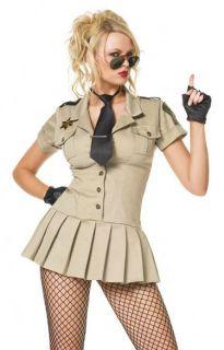 PC. LEG AVENUE SEXY SHERIFF COP ADULT HALLOWEEN COSTUME+ DRESS + TIE