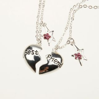 Friend Gift LOVE HEART Star Necklaces Girls Vintage Classic Necklace