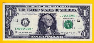STAR NOTE LOW 640K RUN (KEY) L00554299* 2009 $1 SAN FRANCISCO (FW