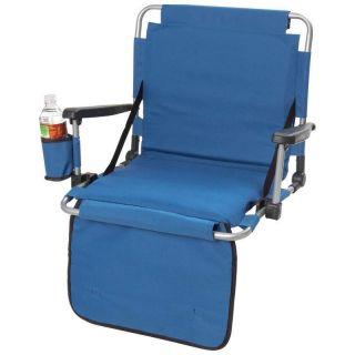 Club Fun Stadium Blue Cushion Seat W Arms Drink holder Pockets