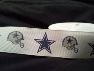 Yard Dallas Cowboys Football Helmet NFL Stars Grosgrain Ribbon
