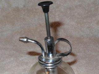 Old Glass Sprizter Bottle Pump Sprayer Mister Garden Herb Tool