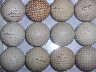 12 Gene Sarazen Lot Vintage Signature Logo Golf Balls 2