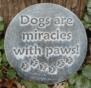Plastic Plaque Mold Dog Garden Plaque Stepping Stone