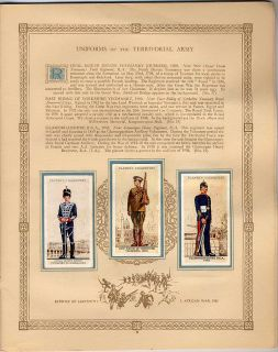 Tobacco Card Album & Cards, John Player,MILITARY UNIFORMS OF