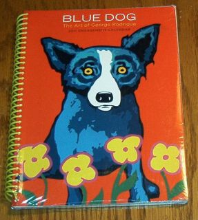 BLUE DOG The Art of George Rodrigue 2011 Engagement Calendar Sealed