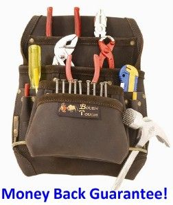 Best 10 Pocket Tool Pouch Oil Tanned Leather Apron Carpenter Tough