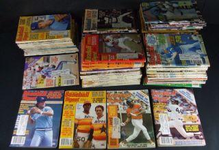 Lot of 1977 to 1982 Baseball Digest * Nolan Ryan * George Brett & more