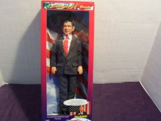 GEORGE W BUSH PRESIDENT TALKING FIGURE DOLL COLLECTIBLE NEW 12