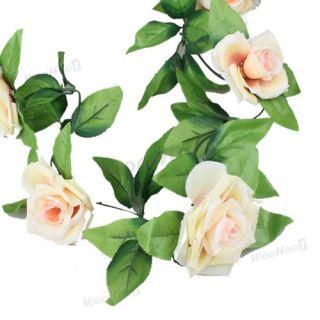 Ivory Rose Flowers Garland Vine Wedding Arch Decoration