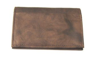 Leather Card Holder Mini Wallet Brown New