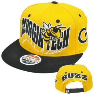 NCAA Georgia Tech Yellow Jackets Flashback 32 5 Zephyr Snapback Flat