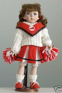 "Geppeddo Porcelain 16"" Cheerleader Doll"
