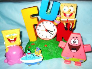 Spongebob Squarepants Fun Childrens Alarm Clock and Toys