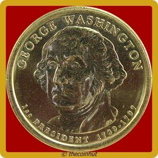 2007 D BU George Washington Presidential Dollar Coin US Mint Coins