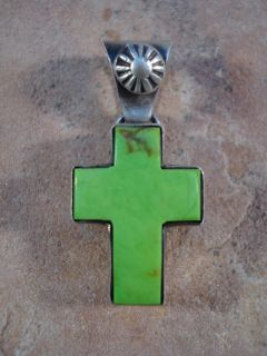 Gary Sanchez Navajo Gaspitite Cross Pendant