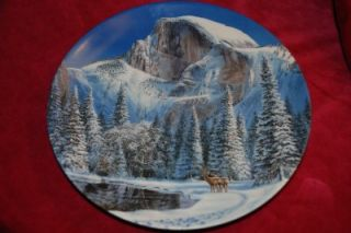 WS George Jean Sias LtdEd Plate Blue Snow at Half Dome
