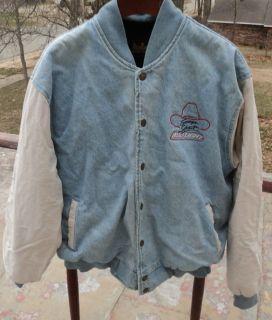 Vtg George Strait Bud Light Denim Jean Tour Jacket Coat Budweiser