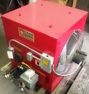 Clean burn single piece electrode cb500 series waste oil for Heater that burns used motor oil