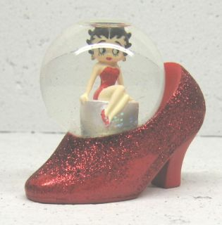 Betty Boop Sitting in A Shoe Waterglobe King Features Small
