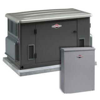 Briggs stratton 12 kw lp nat gas generator w 100 amp automatic
