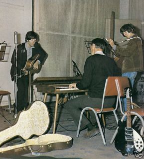 George Martin Paul McCartney George Harrison Abbey Road