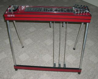 New GFI s 10 SM Red Mica Pedal Steel Guitar w Hard Case Florr Display