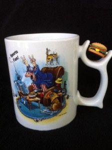 Gary Patterson Coffee Mug Spinners Sports Fan Hamburger Dog Cat TV