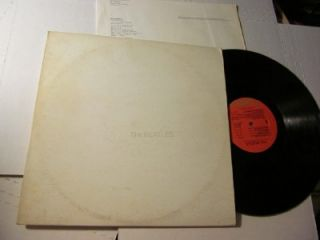 BEATLES WHITE ALBUM ORANGE LABEL w LYRICS POSTER GATEFOLD (SWBO 101