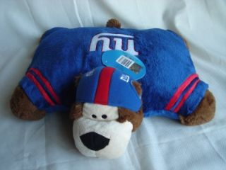 New NY Giants Pillow Pets Stuffed Plush Bear NFL Football