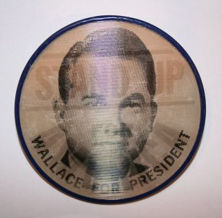 1968 George Wallace President Hopeful Campaign Button Political