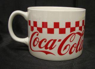 Gibson Coca Cola Coke Soda Checkered Soup Cup Mug