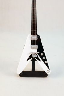 Korina Flying V Epiphone Gibson Mini Guitar Electric White